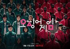 Squid Game, Korea, Poster print 19x13, Netflix Original Series, Tv Show, Square