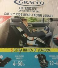 Graco Extend2Fit Convertible Baby Car Seat Ride Rear Facing Longer, Spire, New