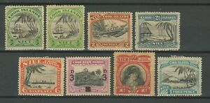 Cook Islands 1944/50 Niue Island ☀ Captain Cook Stamps ☀ MH Lot