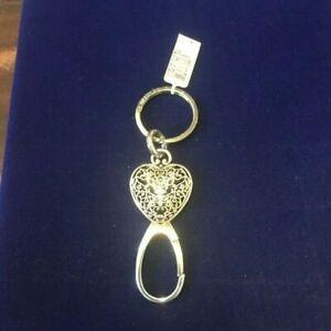 NWT Brighton 'CHARMER ' Silver Heart Keyring  E13210