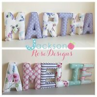 Baby Name Letters,  Padded, Handmade Nursery name, personalised, girl, boy