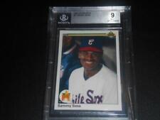 1990 Upper Deck #17 SAMMY SOSA RC Rookie! WHITE SOX! Graded BGS 9 MINT! BV$$$