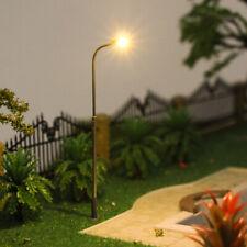10pcs Model Railway Warm White Lamps 1:87 Street Lights HO Scale LEDs