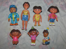 Dora the Explorer PVC Figure Set - Mami, Diego, Birthday Hats  - 7 Figures, Toys