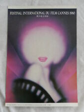 FESTIVAL INTERNATIONAL DU FILM CANNES 1980 mini-poster cartonné BON ETAT