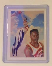 Dominique Wilkins Autographed 1990 Hoops Checklist Basketball Card Signed Auto