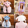 Cute Funny Creative Unicorn Moving Ears Hat Cap Hood Hat  for Party cosplay