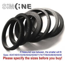 Set 4pcs Seamless Flexible Follow Focus Gear Rings 45-98mm for 45-103mm lens