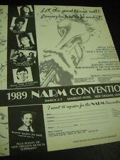 Narm 1989 Promo Ad Basia Richard Marx Wayne Toups Neville Brothers S. Jordan