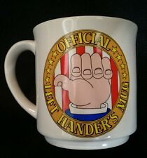 Vintage Official Left-Handers Gag Mug by Recycled Paper Products FREE SHIPPING!!