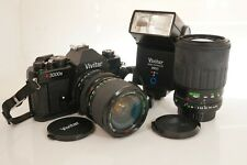 Mint Vivitar v3000s with 70-210mm  28-70mm Lenses, Flash and Carry bag