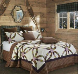 """Virah Bella Collection Phyllis Dobbs """"Wedding Ring"""" Lavender Quilt Set KING"""