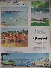 PUBLICITE DE PRESSE PEUGEOT 201 301 601 ILLUSTRATION ANDRE GIRARD FRENCH AD 1934