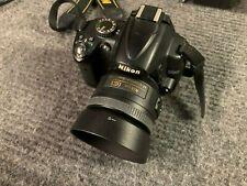 Nikon D5000 Digital SLR Camera BUNDLE (35m f/1.8 + 18-200m) LOW Shutter + Flash