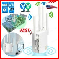 1200Mbps WiFi Range Extender WiFi Repeater Wireless Internet Signal Booster Dual