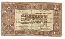 NEDERLANDS BANKBILJET ZILVERBON 1 GULDEN # 04-1a