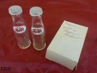 Vintage PEPSI COLA Soda Pop Bottle SALT PEPPER Shakers