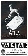 PUBBLICITA' 1942 ATILA TORINO VALSTAR CAMICE LINGERIE UNICORNO ABBIGLIAMENTO