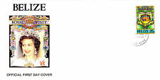 BELIZE 9 OCTOBER 1985 ROYAL VISIT OFFICIAL FIRST DAY COVER FDI