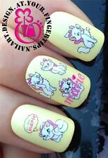 NAIL ART WATER TRANSFERS/STICKERS/DECALS ARISTOCATS KITTEN MARIE FIGURE #107