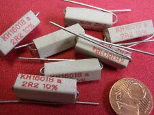 RARO! alta carico resistenza 2,2 Ohm cemento 4w 20x6x6mm 7x 23794-18