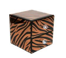 Stunning Two Draw Tiger Print Design Glass Jewellery/Trinket Box - New.
