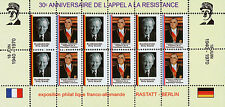 "POLITICAL LABEL ""30 years DE GAULLE Appeal of 18 June / POMPIDOU & BRANDT"" 1970"