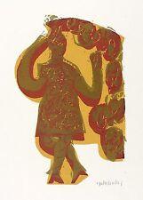 Hap Grieshaber-Madonna della Gmünder Johanniskirche-farbholzschnitt 1972