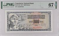 Yugoslavia 1000 Dinara 1974 P 86 Superb Gem UNC PMG 67 EPQ Top Pop