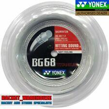 YONEX BG68Ti 200M COIL BADMINTON RACKET STRING WHITE COLOUR