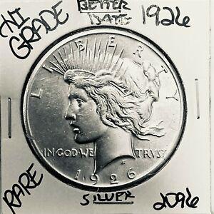 1926 PEACE SILVER DOLLAR HI GRADE GENUINE U.S. MINT RARE COIN 2096