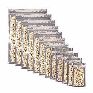 Heat Seal Zip-Lock Food Pouch High Quality Mylar Aluminium Press Seal Resealable