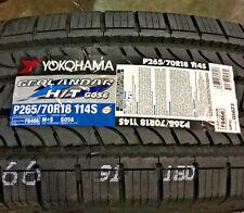 2 New 265 70 18 Yokohama Geolandar H/T G056 Tires