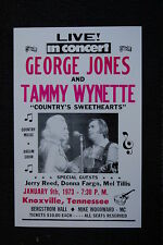 George Jones & Tammy Wynette 1973 Poster Knoxville Tenn