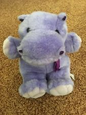 Just Friends Plush Purple Hippo Soft Stuffed Toy 12""