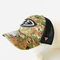 Anaheim Ducks Flex Fit Hat Camo M/L NHL Authentic Fitted Trucker Cap Fanatics