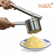 (3Pcs Interchangeable Ricing) Stainless Steel Potato Ricer Masher Food Presser