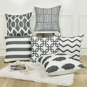 Throw Pillow Covers Set of 6 Modern Decorative Cushion Cases for Couch Sofa