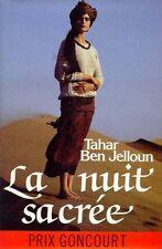 La nuit sacree.Tahar Ben JELLOUN.France loisirs J002
