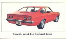 1972 Chevrolet Vega 2-Door Hatchback Coupe ORIGINAL Factory Postcard my0545