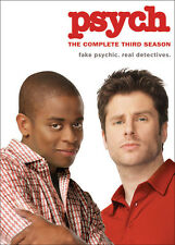 PSYCH: THE COMPLETE THIRD SEASON 3 - BRAND NEW & SEALED R4 DVD BOX SET (4-DISC)