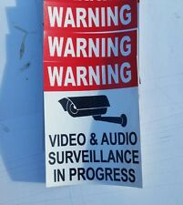 VIDEO SURVEILLANCE Security Decal  Sticker CCTV (if you are.3 pcs) 3.75x3.25 in