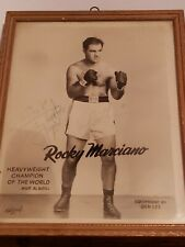 Autographed 8x10 Rocky Marciano Photo vintage 50's Boxing Ben Lee Equipment WOW