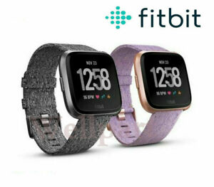 NEW Fitbit Versa Special Edition Smartwatch Fitness Activity Tracker Black Pink