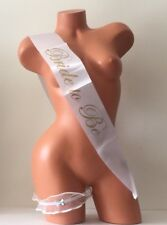 Bride To Be Sash & Victoria's Secret Garter Set Bachelorette Party NWT