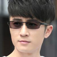 New Mens Half Rimless Photochromic Grey Reading Glasses Eyewear +0.0~ +4.0 UV400