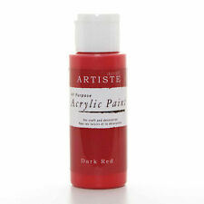 DoCrafts Artiste Dark Red Acrylic Craft Paint - 59ml