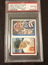 1986 Topps Stickers Steve Young RC Romes PSA 10 Low Pop 28