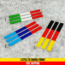 3 x ITALY BMW Flag Motorcycle Bike Sticker Reflective Vinyl 46 Valentino Rossi
