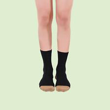 Glucology Diabetes Copper Socks   3 Pack Unisex Socks   Loose Fit Black White